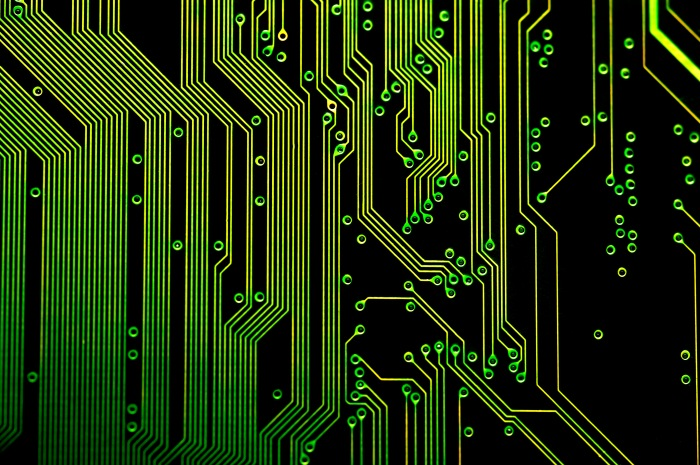 "details of the electronic circuit tracks on a printed circuit board, once of 20 images on our ""electronik"" design pack http://creativity103.com/design-packs/index.htm#electronik"