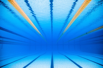 empty 50m olympic outdoor pool from underwater - Olympic Swimming Pool Underwater